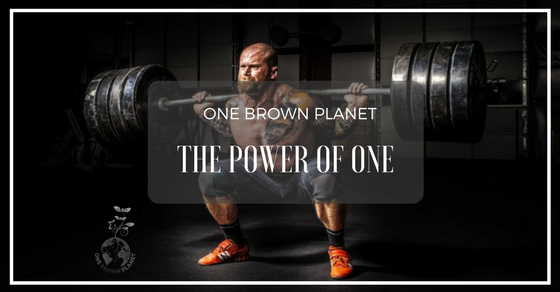 One Brown Planet, Blog Header, Man Lifting Weights